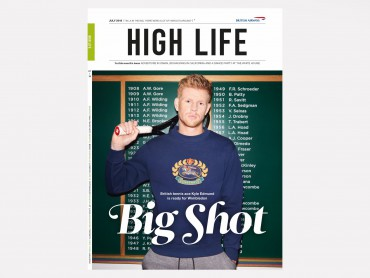 British Airways High Life magazine Big Shot Cover