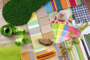 color harmonisation for interior in spring theme